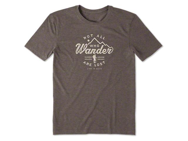Life is Good Men's Wander Hike T-Shirt - Rich Brown