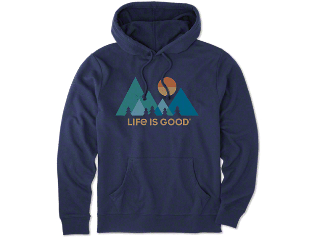 Life is Good Men's Mountainamilist Simply True Hoodie - Darkest Blue