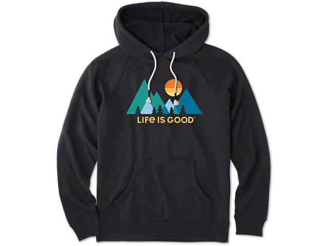 Life is Good Women's Mountainamilist Simply True Hoodie - Night Black