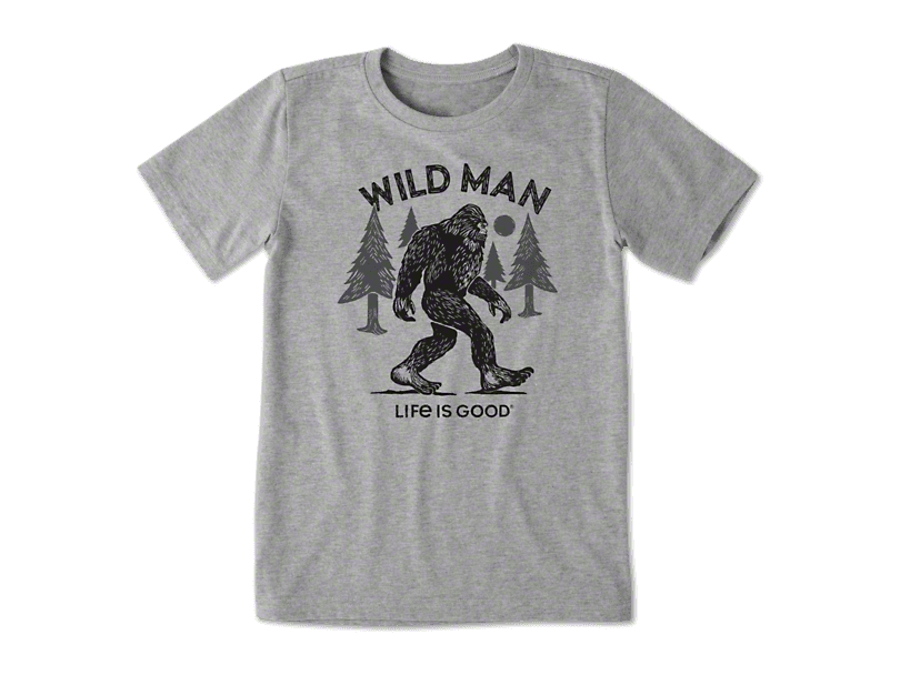 Life is Good Boy's Big Foot T-Shirt - Heather Gray
