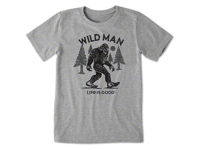 9b3265716 Life is Good Jeep Wrangler Boy's Big Foot T-Shirt - Heather Gray 55147