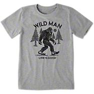 3683fc40f0f2a Life is Good Boy s Big Foot T-Shirt - Heather Gray  18.00