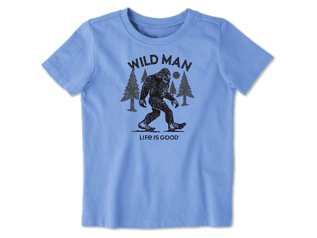 Life is Good Toddler Big Foot T-Shirt - Powder Blue