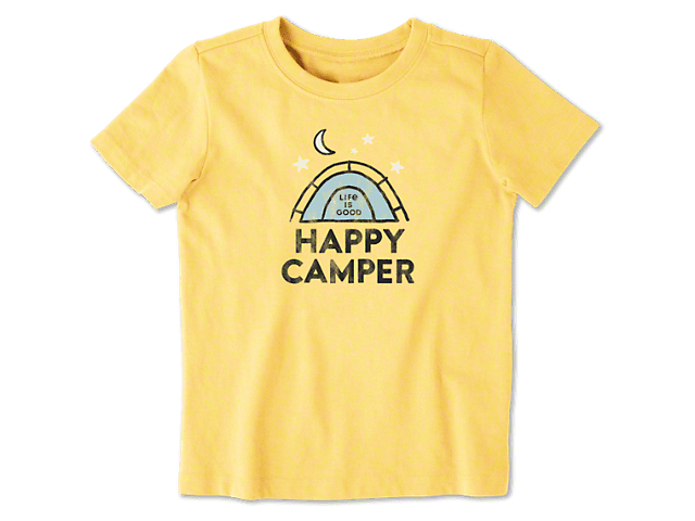 Life is Good Toddler Happy Camper T-Shirt - Happy Yellow