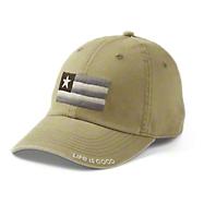 7910e7d574fd1 Life is Good Flag Patch Hat - Fatigue Green  22.00