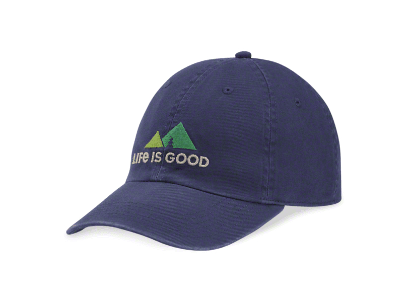 Life is Good LIG Peaks Hat - Darkest Blue