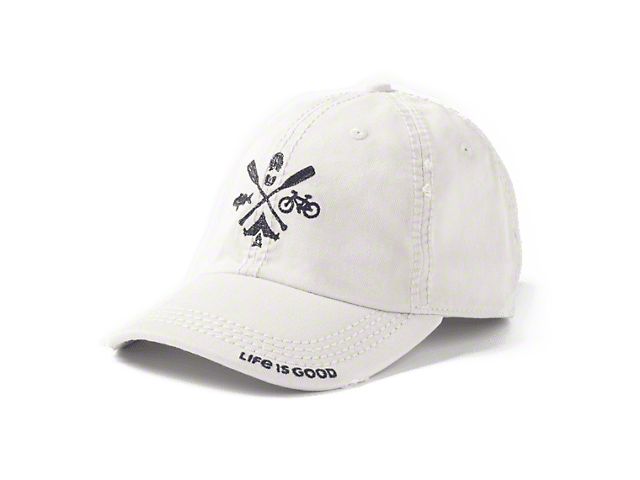 Life is Good Outdoors Oars Sunwashed Hat - Bone