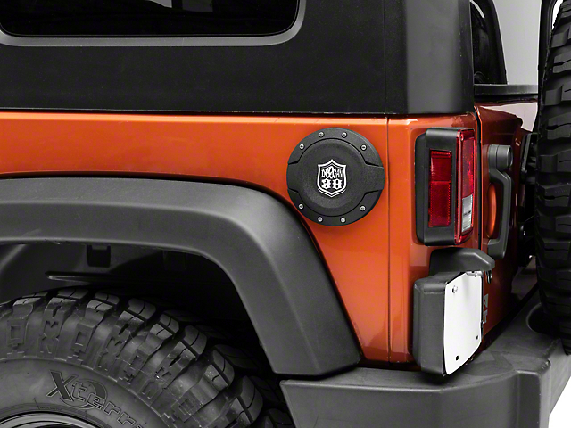 Deegan 38 Fuel Door - Textured Black (07-18 Jeep Wrangler JK)