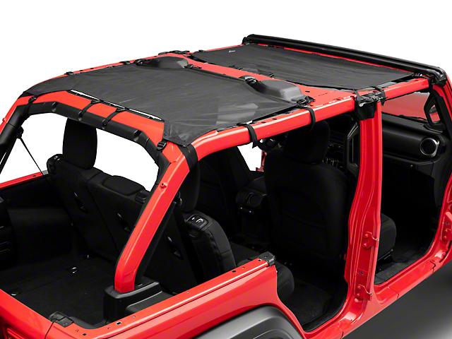 MasterTop ShadeMaker Freedom Mesh Bimini Top Plus; Black (18-20 Jeep Wrangler JL 4 Door)