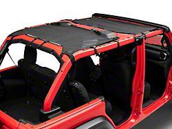MasterTop ShadeMaker Freedom Mesh Bimini Top Plus; Black (18-21 Jeep Wrangler JL 4-Door)