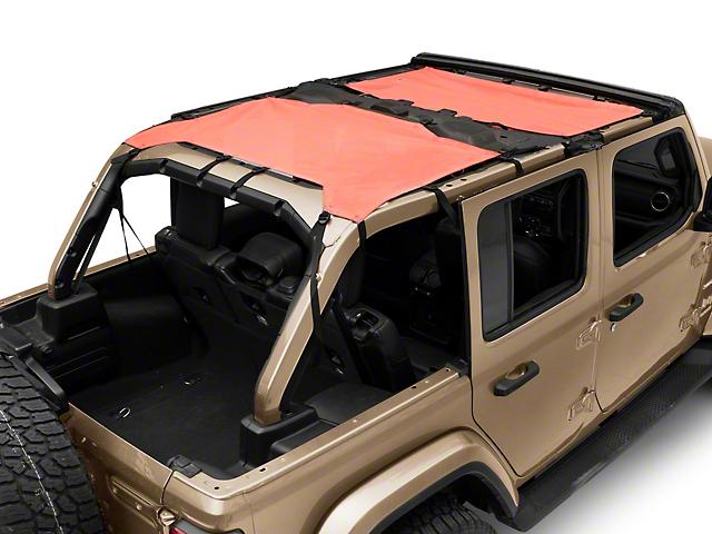 MasterTop ShadeMaker Freedom Mesh Bimini Top Plus - Red (18-20 Jeep Wrangler JL 4 Door)
