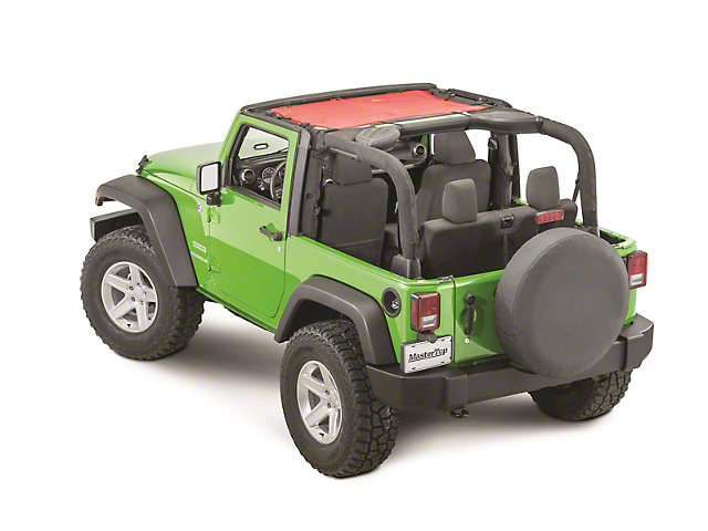 MasterTop ShadeMaker Freedom Mesh Bimini Top - Red (07-18 Jeep Wrangler JK 2 Door)