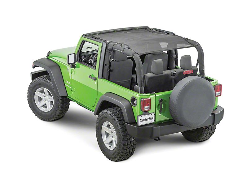 MasterTop ShadeMaker Freedom Mesh Bimini Top Plus - Black (07-18 Jeep Wrangler JK 2 Door)