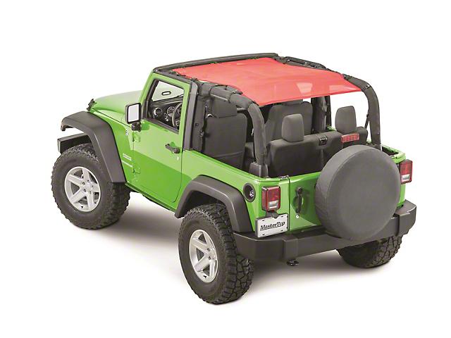 MasterTop ShadeMaker Freedom Mesh Bimini Top Plus; Red (07-18 Jeep Wrangler JK 2 Door)
