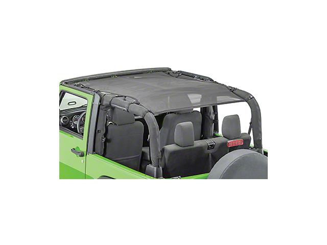 MasterTop ShadeMaker Freedom Mesh Bimini Top Plus - Black (07-18 Jeep Wrangler JK 4 Door)