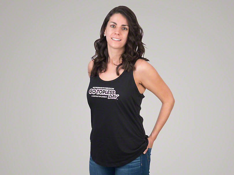 Women's Go Topless Day Camo Tank Top