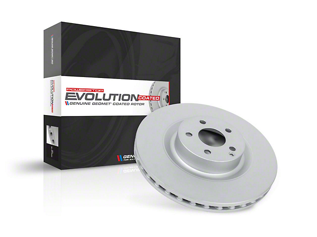 Power Stop Evolution Coated Rotor; Rear (2020 Jeep Gladiator JT)