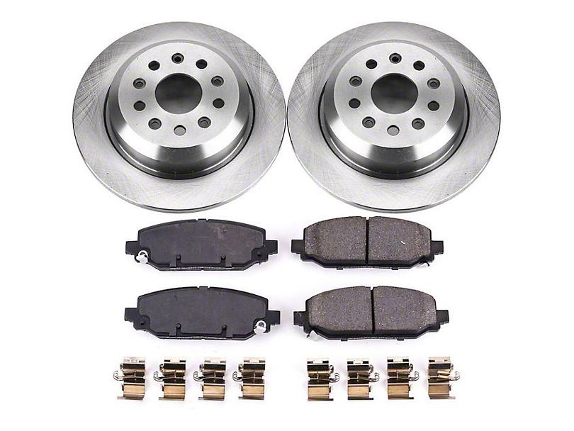 Power Stop OE Replacement Brake Rotor and Pad Kit; Rear (18-20 Jeep Wrangler JL Rubicon, Sahara)