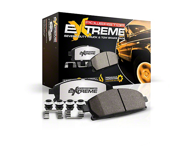 Power Stop Z36 Extreme Truck and Tow Carbon-Ceramic Brake Pads; Front Pair (2020 Jeep Gladiator JT)