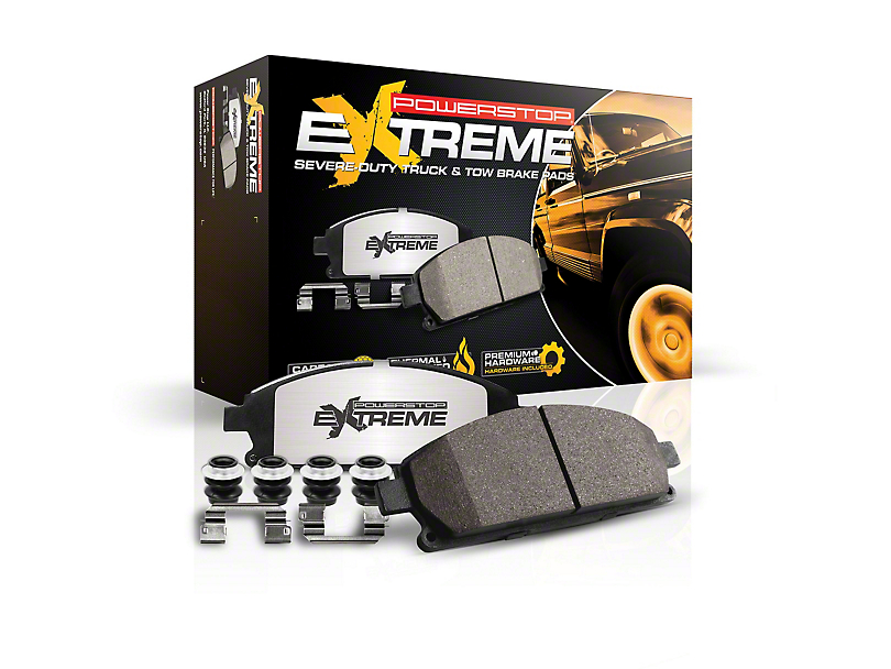 Power Stop Z36 Extreme Truck & Tow Carbon-Ceramic Brake Pads - Rear Pair (18-20 Jeep Wrangler JL Rubicon, Sahara)