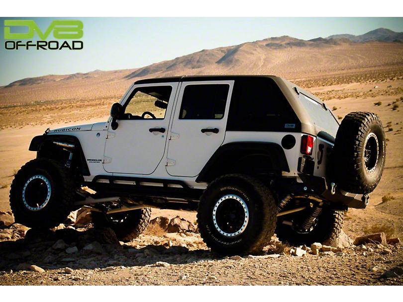 DV8 Off-Road 2-Piece Ranger Fastback Hard Top w/ Wiper - Raw (07-18 Jeep Wrangler JK 4 Door)