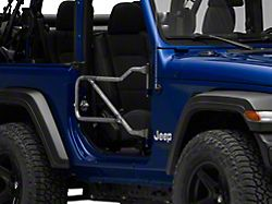 Steinjager Front Trail Tube Doors - Bare Metal (18-20 Jeep Wrangler JL)