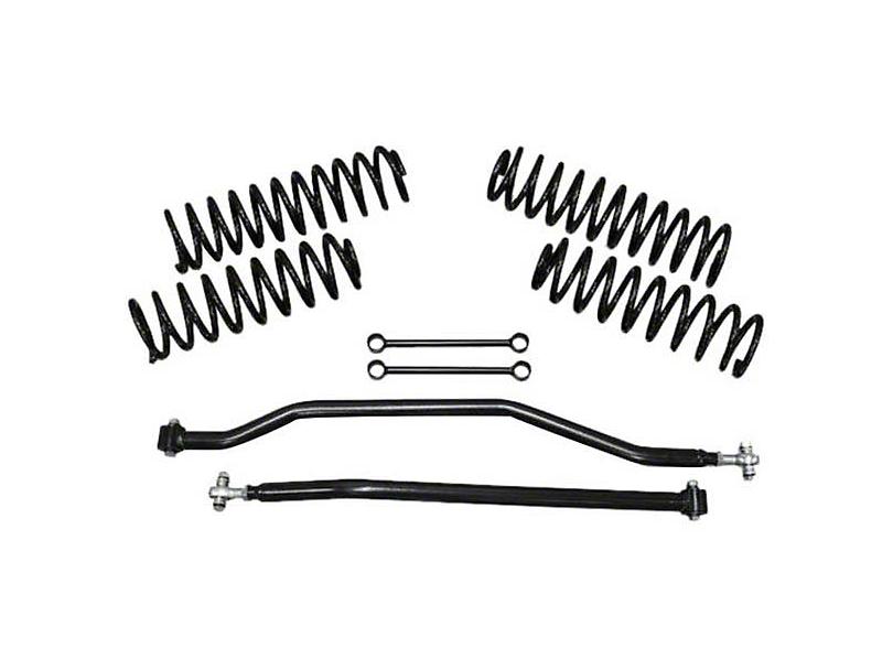 DV8 Off-Road Rock Runner 3.5 in. Lift Kit w/ Shocks & Track Bars (07-18 Jeep Wrangler JK)