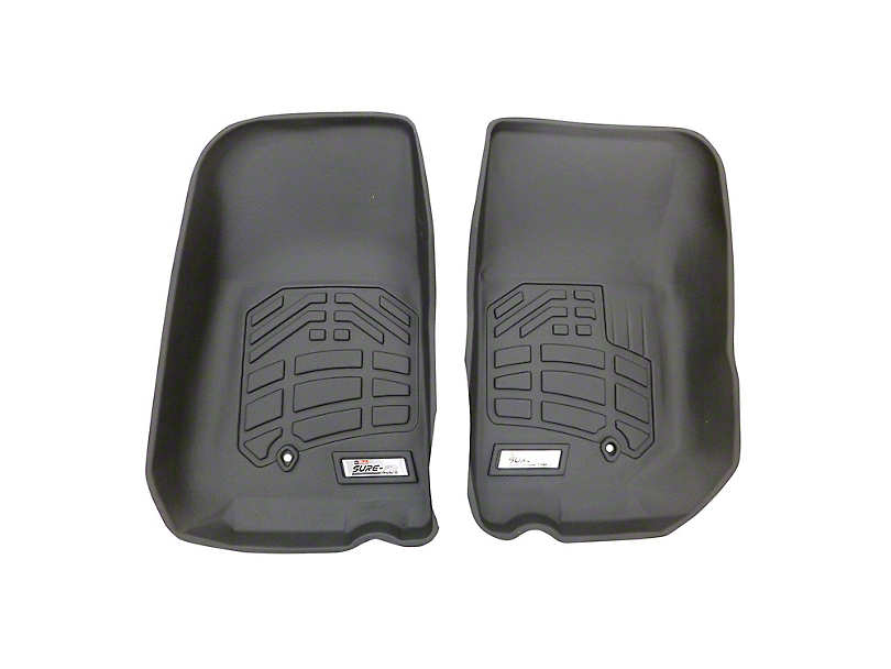 RedRock 4x4 Sure-Fit Front Floor Liners - Black (07-13 Jeep Wrangler JK)