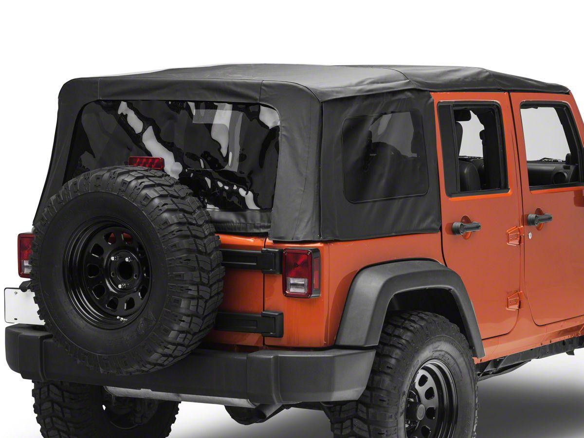 Redrock 4x4 Jeep Wrangler Replacement Soft Top Black Diamond 55101935 10 18 Jeep Wrangler Jk 4 Door