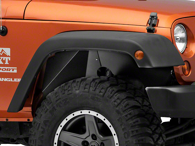 Rugged Ridge Aluminum Inner Fender Liners; Black (07-18 Jeep Wrangler JK)