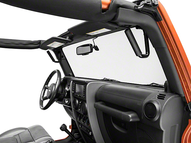 Rugged Ridge Steel Front and Rear Grab Handles - Black (07-18 Jeep Wrangler JK)