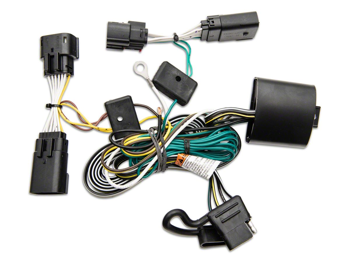 rugged ridge jeep wrangler trailer wiring harness; plug-n-play 17275.04  (18-21 jeep wrangler jl)  extreme terrain