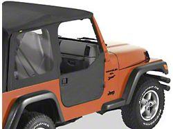 Bestop Lower Fabric Half Doors; Black Denim (97-06 Jeep Wrangler TJ)