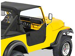 Bestop Lower Fabric Half Doors; Black Crush (76-86 Jeep CJ7)