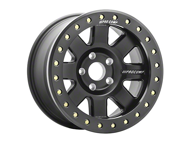 Pro Comp Wheels Trilogy Race Satin Black Wheel; 17x9; -6mm Offset (97-06 Jeep Wrangler TJ)