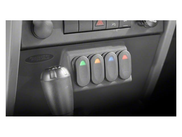 Rugged Ridge Lower Switch Panel Kit (07-10 Jeep Wrangler JK w/ Automatic Transmission)