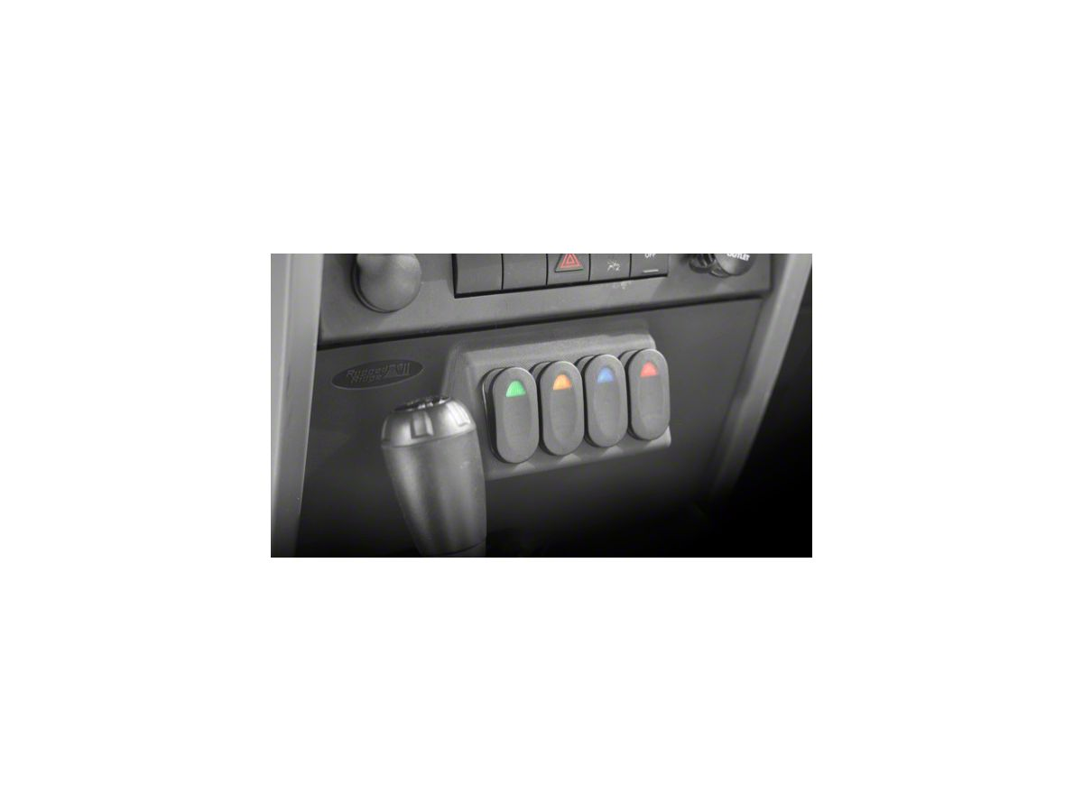 2009 JEEP JK Rocker Switch Kit with Daystar Dash Panel NEW