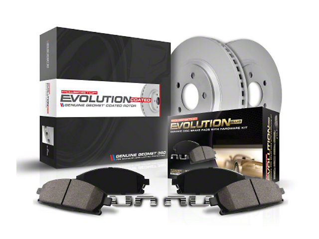 Power Stop Z17 Evolution Plus Brake Rotor and Pad Kit; Front (2020 Jeep Gladiator JT Launch Edition, Rubicon)