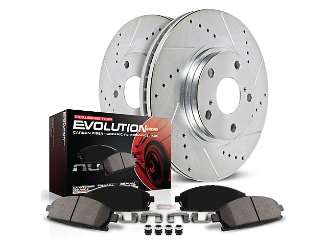 Power Stop Z23 Evolution Sport Brake Rotor and Pad Kit; Front (18-20 Jeep Wrangler JL Rubicon, Sahara)