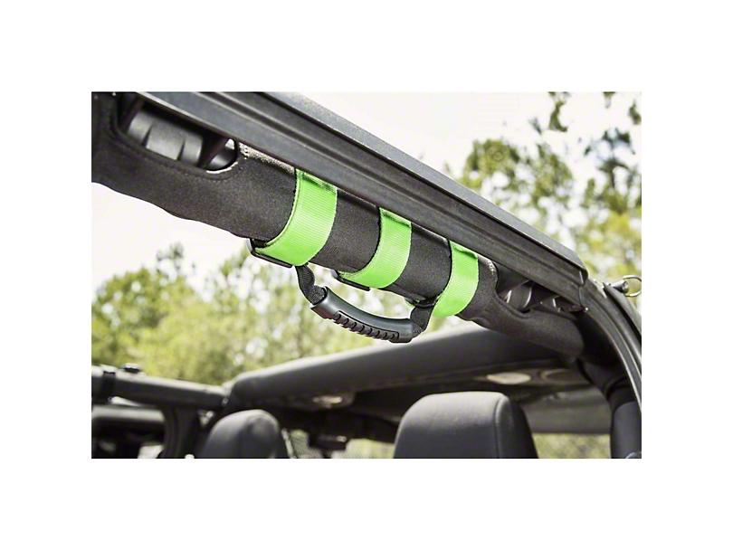Outland Ultimate Grab Handles - Green (87-20 Jeep Wrangler YJ, TJ, JK & JL)