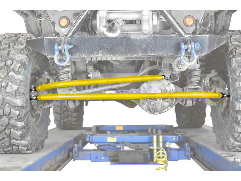 Steinjager Crossover Steering Kit for 0 to 4-Inch Lift; Neon Yellow (97-06 Jeep Wrangler TJ)