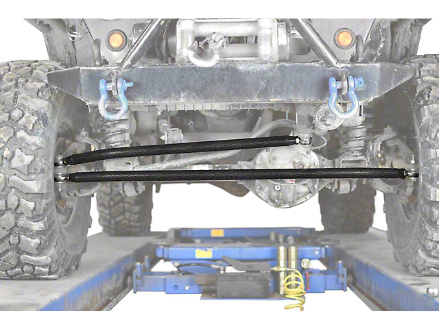 Steinjager Crossover Steering Kit for 0-4 in. Lift - Textured Black (97-06 Jeep Wrangler TJ)