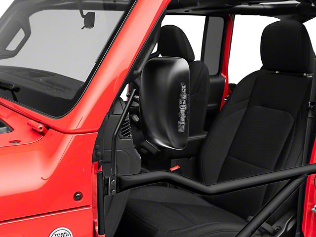 Steinjager Tube Door Mirror Kit; Black (18-20 Jeep Wrangler JL)