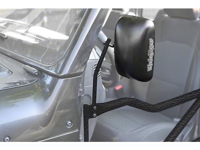 Steinjager Tube Door Mirror Kit; Textured Black (18-20 Jeep Wrangler JL)