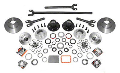 Alloy USA Manual Locking Hub Complete Conversion Kit (87-06 Wrangler YJ & TJ)