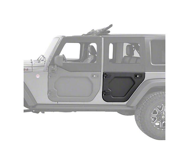 Bestop Rear Lower Core Doors; Black (07-18 Jeep Wrangler JK 4 Door)