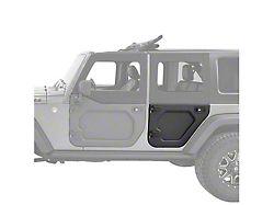 Bestop Rear Lower Core Doors - Black (07-18 Jeep Wrangler JK 4 Door)