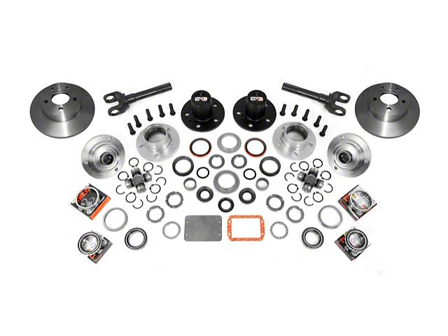 Alloy USA Manual Locking Hub Conversion Kit (87-95 Jeep Wrangler YJ)