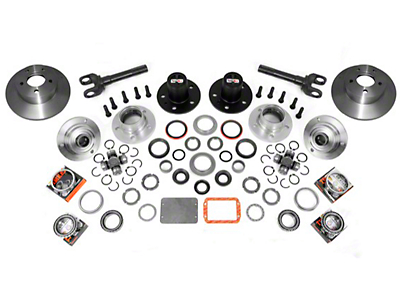 Alloy USA Manual Locking Hub Conversion Kit (87-95 Wrangler YJ)