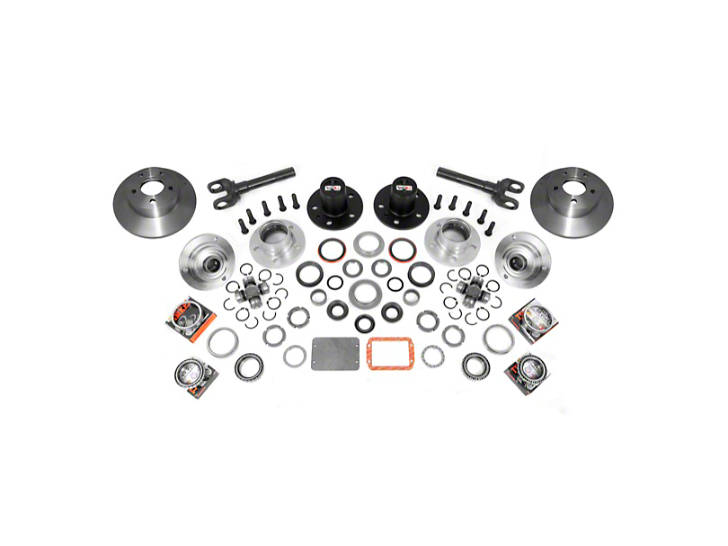 Alloy USA Jeep Wrangler Manual Locking Hub Conversion Kit
